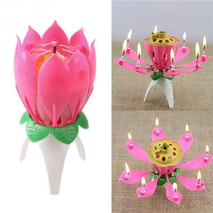 Blooming Lotus Shaped Candle
