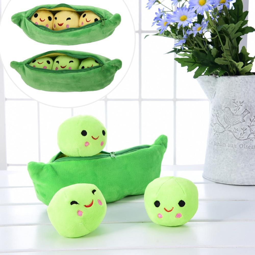 Plush Pea-shaped Pillow