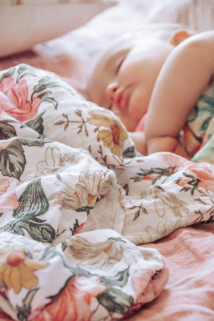 Baby sleeping with blanket | The Mini Scout