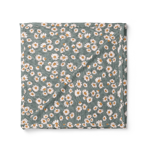 Swaddle Daisy Storm Blue
