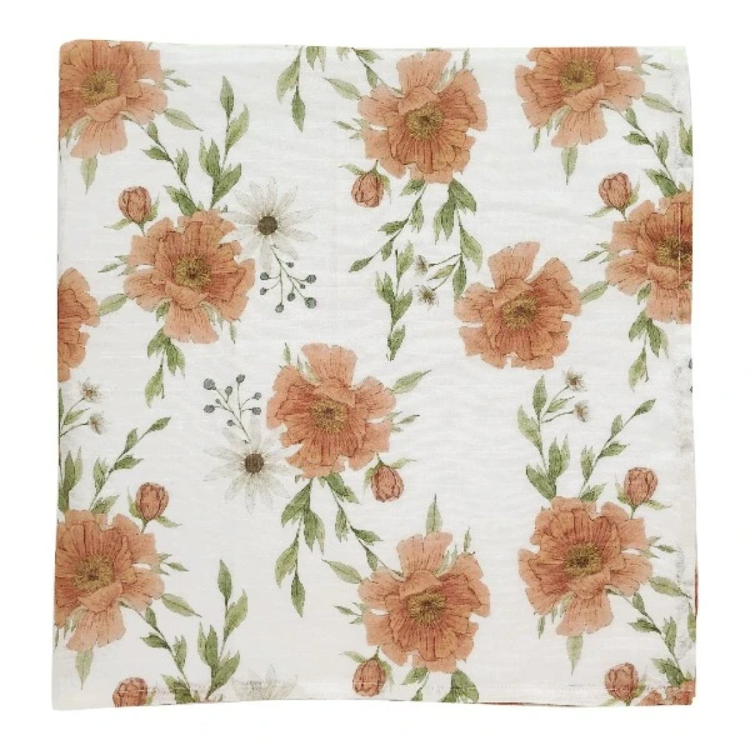 Swaddle Peony Blooms White