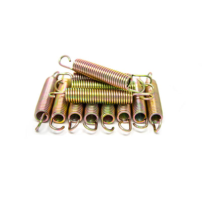 5.5 inch galvanized steel spring that is rust-resistant and weatherproof.