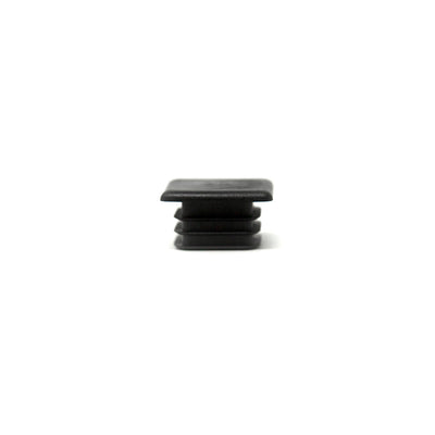 Black rubber end cap comes in quantity of two.