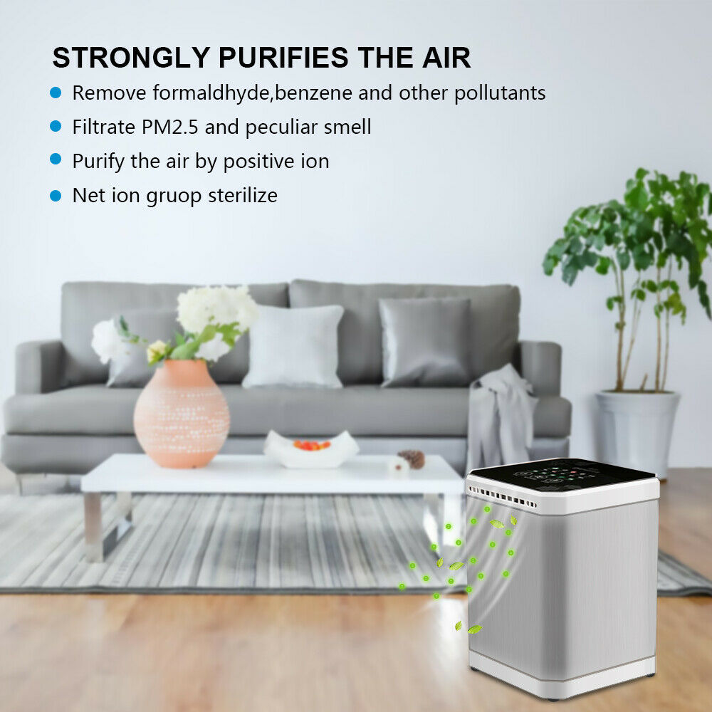 Portable Air Purifier Remove Virus & Bacteria Clear Freshener True HEPA Filter Ioniser odor cleaner - Massage Chairs Aus