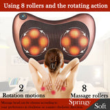 Home Car Shiatsu Massage Pillow Massager Cushion Neck Back Shoulder Body Relief - Massage Chairs Aus