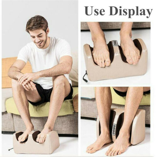 Electric Foot Massager Reflexology Vibration Infrared Leg Massage Spa Heat Relieve Fatigue - Massage Chairs Aus