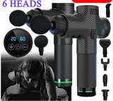 Premium Massage Gun LCD Percussion Massage Muscle Therapy Deep Tissue 6 Heads - Massage Chairs Aus