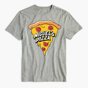 Miguel's Pizza Big Logo Splat T-Shirt Grey (free P&P)