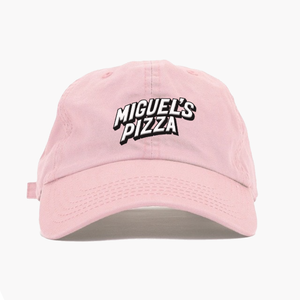 "Pink Miguel's Pizza Embroidered ""Dad Cap"" (free P&P)"
