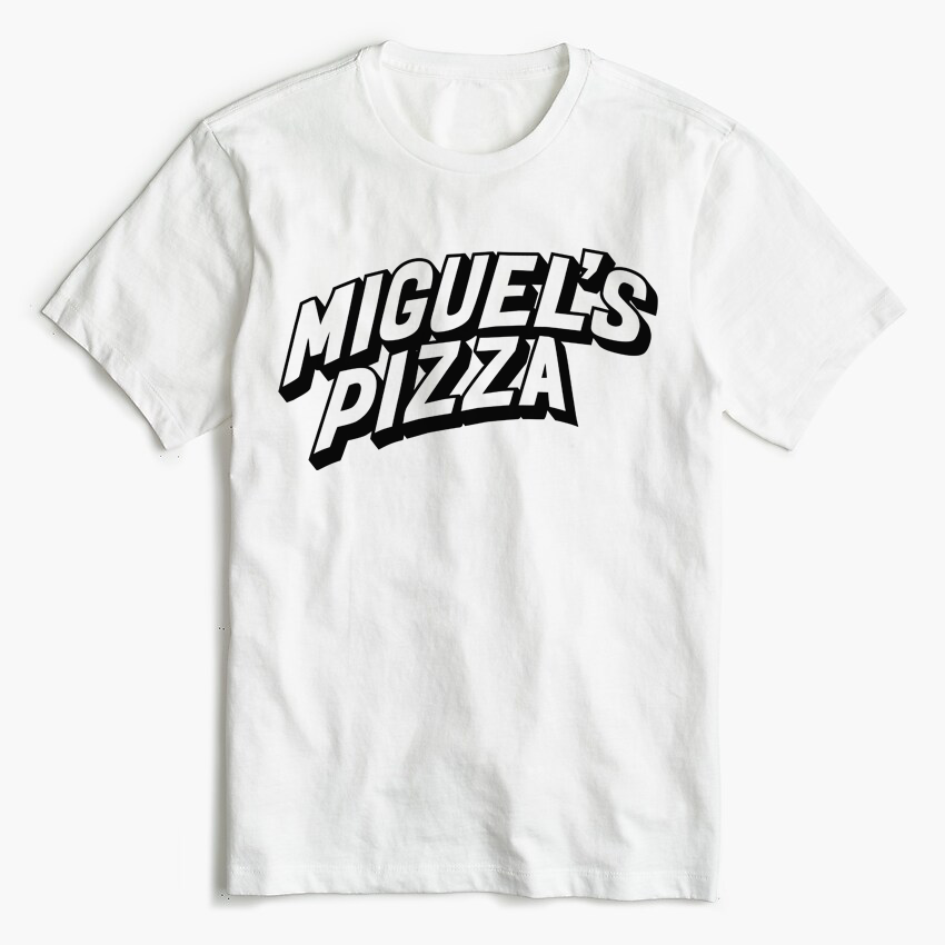 Miguel's Pizza Logo T-Shirt White (free P&P)
