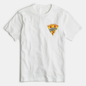 Miguel's Pizza Small Logo Splat T-Shirt White (free P&P) *plain on the back