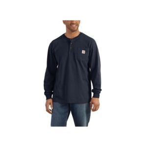 Carhartt Loose Fit Heavyweight Long Sleeve Pocket Henley T-Shirt
