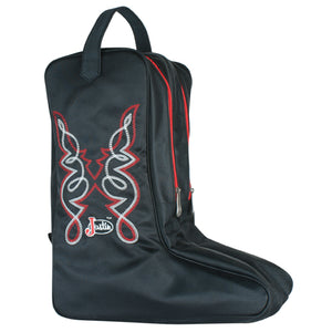 Justin Black Vinyl Boot Bag
