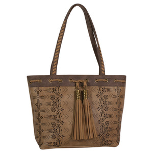Catchfly Chloe Purse Hazelnut Laser Cut
