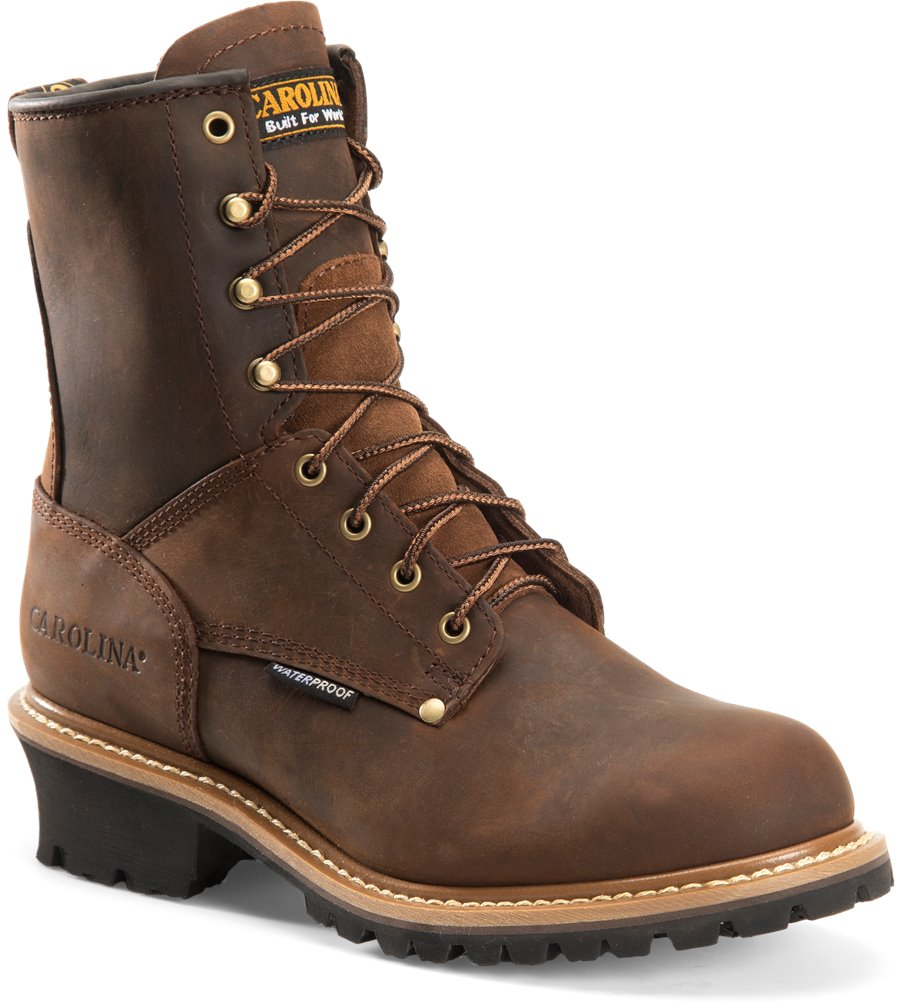 Carolina Men's 8 inch Logger Steel Toe Boots