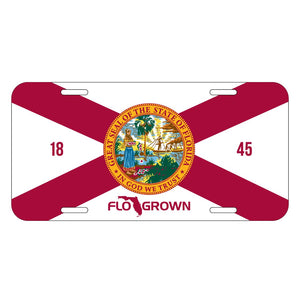 FloGrown License Plate