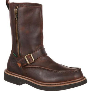 GEORGIA BOOT SIDE ZIP WATERPROOF WORK WELLINGTON