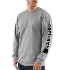 Loose Fit Heavyweight Long Sleeve Logo Sleeve Graphic T-Shirt