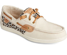 Load image into Gallery viewer, Women's Sperry Songfish Animal Print Linen Boat Shoe