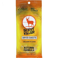 Wildlife Research Scent Killer Autumn Formula Dryer Sheets