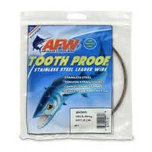 Load image into Gallery viewer, AFW Tooth Proof Stainless Steel Leader Wire