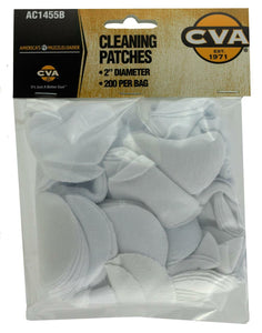 "CVA Cleaning Patches 2"" Round 200 Pack"