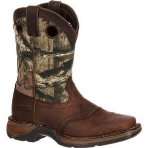 Lil' Durango® Big Kid Camo Saddle Western Boot