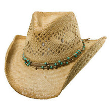 Load image into Gallery viewer, Dorfman Pacific Straw Hat With Beads