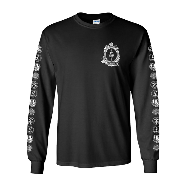 ALL LOGOS LONG SLEEVE BLACK T-SHIRT