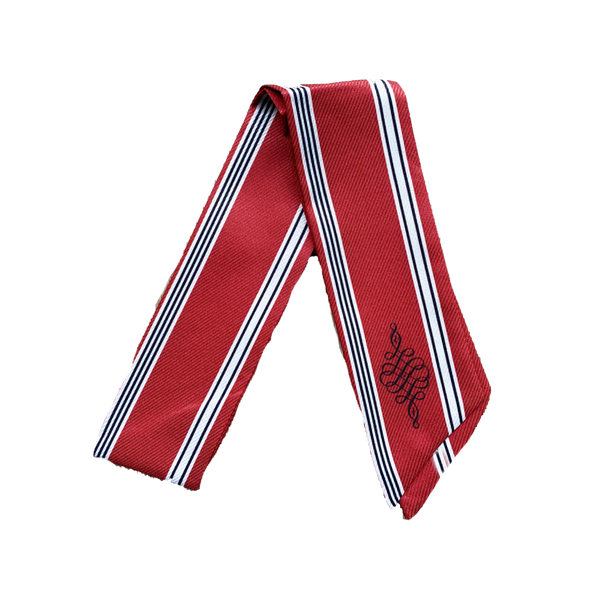 LOGO NECK TIE RED