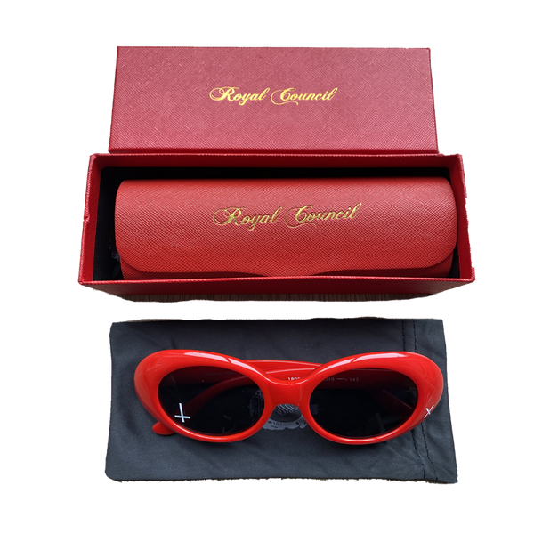 ROYAL COUNCIL RED SUNGLASSES