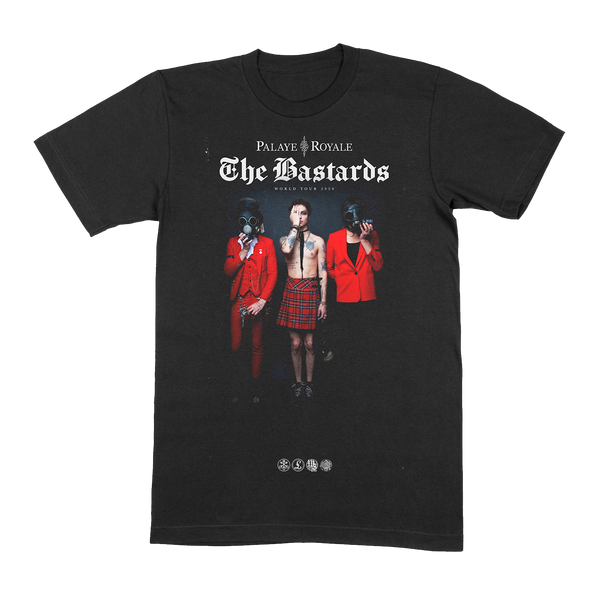 THE BASTARDS TOUR BLACK T-SHIRT