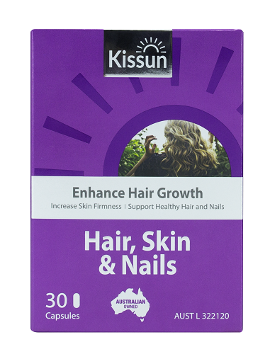 KISSUN Hair, Skin & Nails 30 Capsules (Supports hair growth)