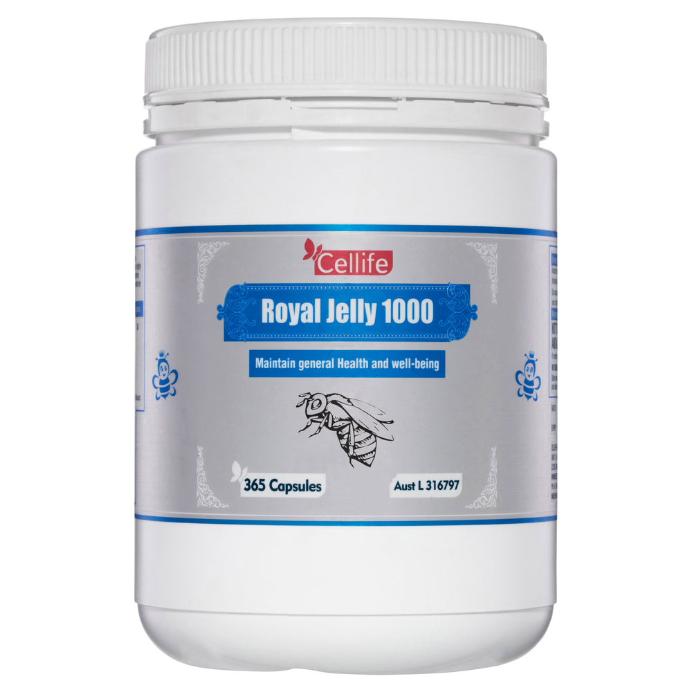 Cellife Royal Jelly 1000mg 365 Caps (Contains 12mg 10-HDA per capsule)