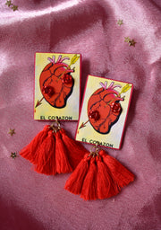 Loteria Card Earrings | El Corazon