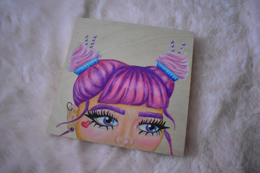 Original Painting | Cupcake Girl