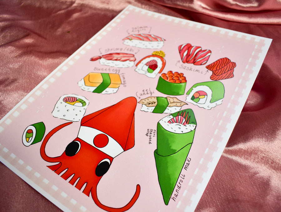 Fine Art Print | Sushi Chef Squid