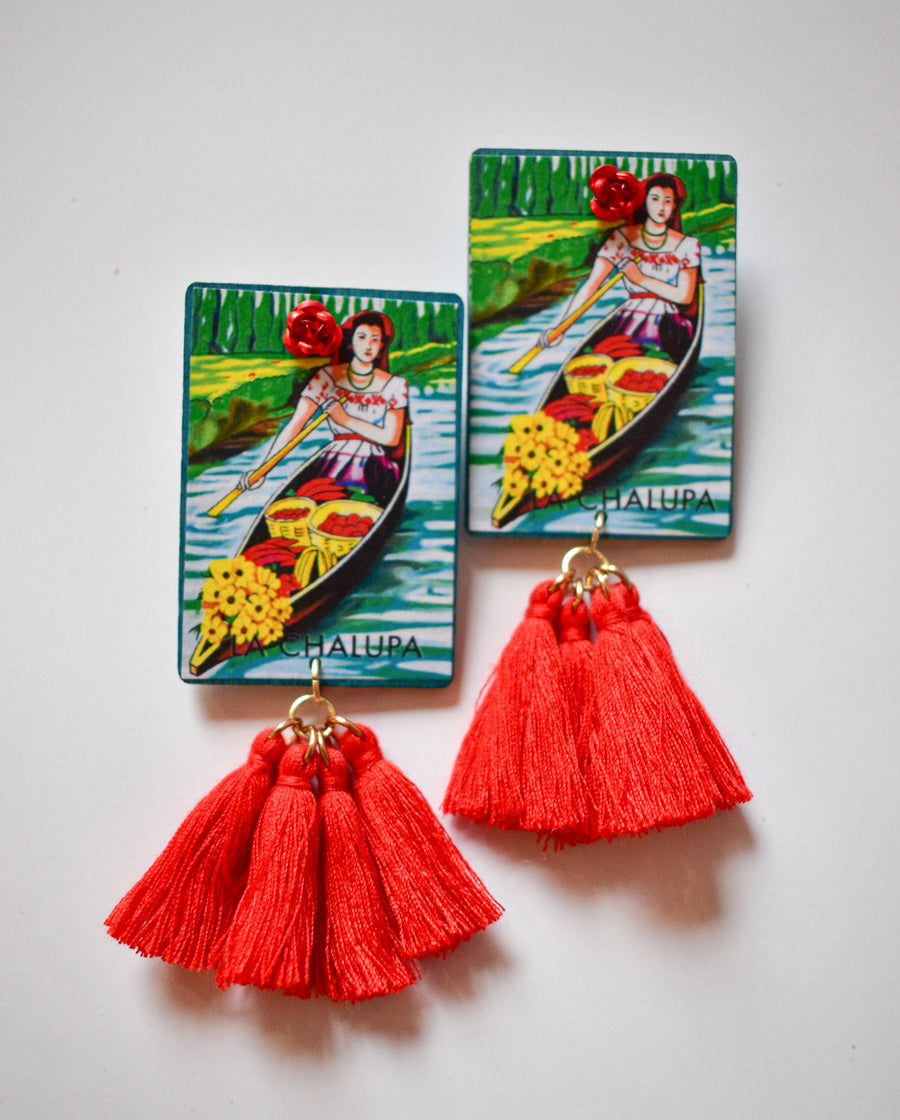 Loteria Card Earrings | La Chalupa