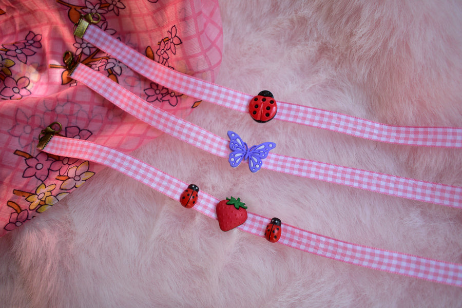 Chokers Pink Gingham
