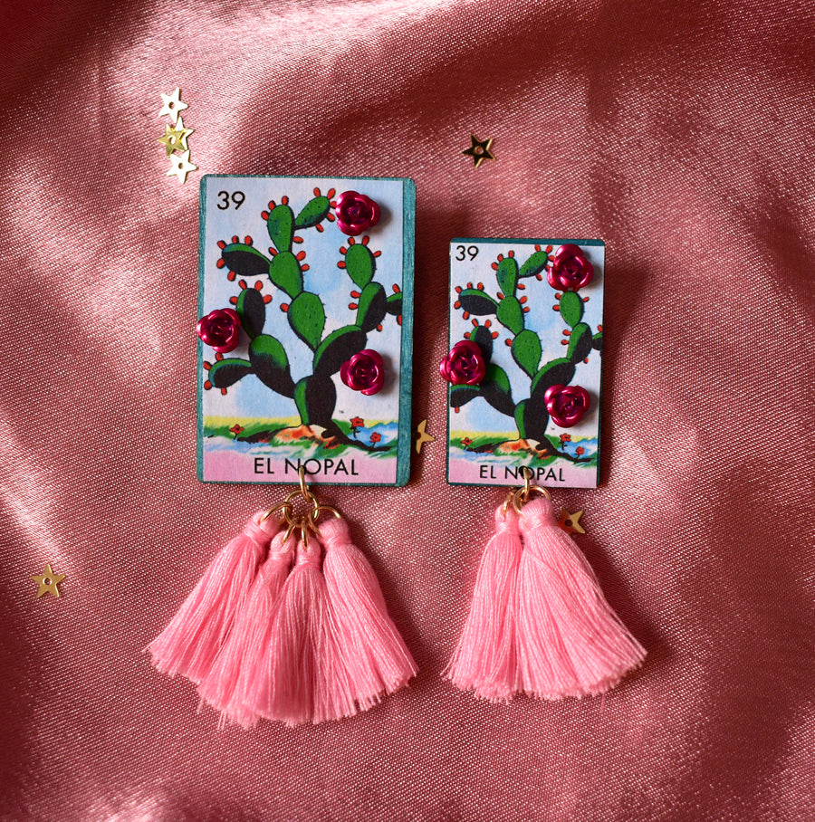 Loteria Card Earrings | El Nopal