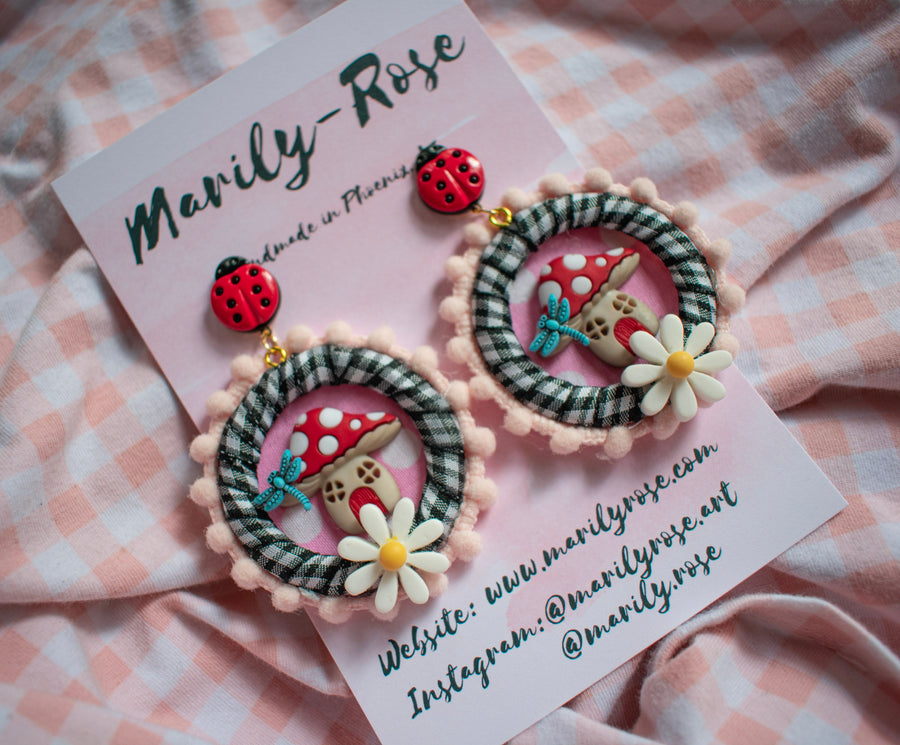 Mushroom Earrings