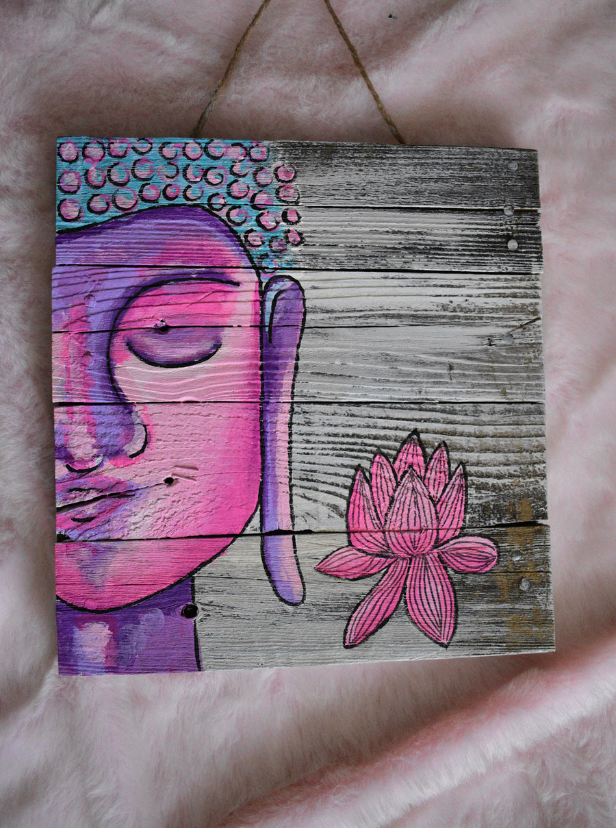 Original Painting | Pink Lotus