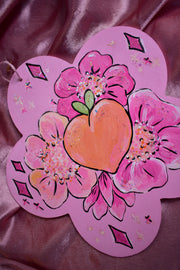 Original Painting Wall Hanging | Peach Blossom