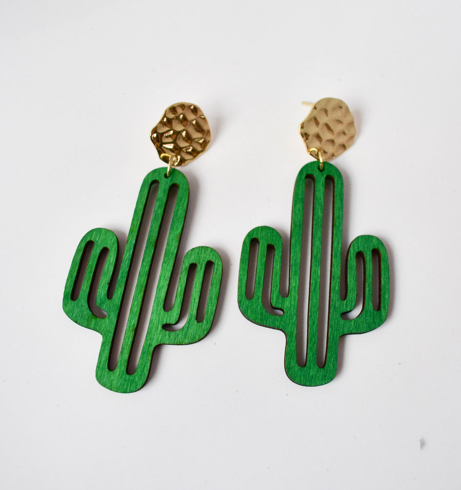 Cacti Earrings | Moon and Heart Studs