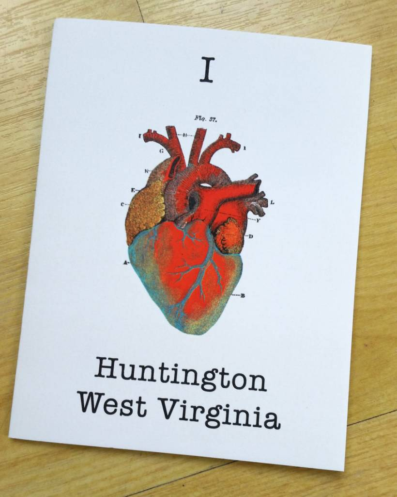 I Heart Huntington, WV Greeting Card