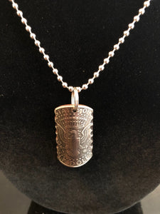 Making Cent$ Half Dollar Shield Necklace