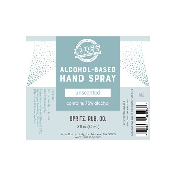 RINSE Alcohol-Based Hand Spray