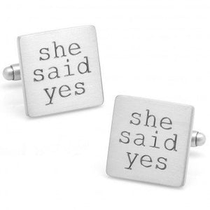 She Said Yes Cufflinks