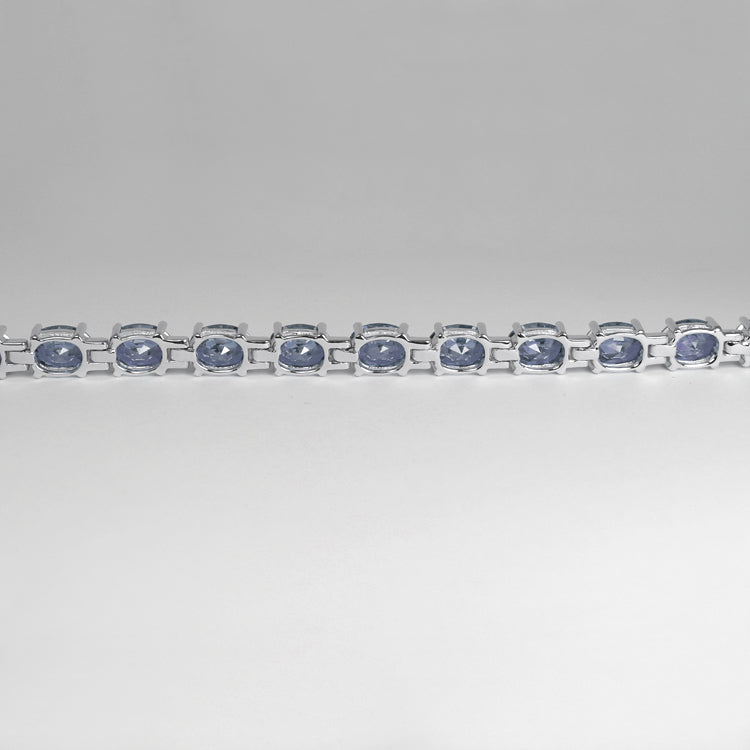 Color-Changing Alexandrite Tennis Bracelet 925 Sterling Silver