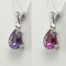 Color-Changing Alexandrite and Diamond Necklace 925 Sterling Silver / Pear-Shaped